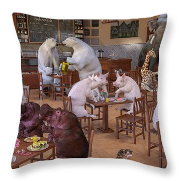The Coffee Shop Throw Pillow
