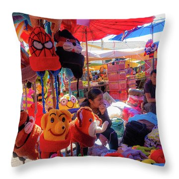 The Colours Of Childhood Throw Pillow