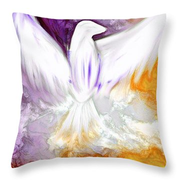 The Comforter Has Come Throw Pillow