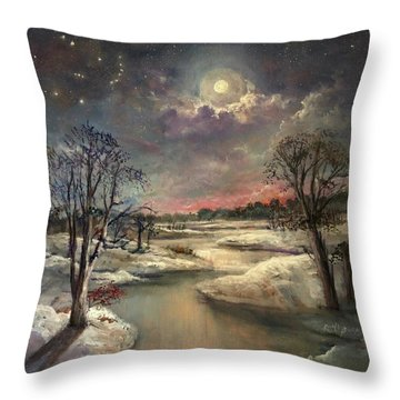 The Constellation Orion Throw Pillow