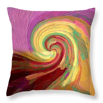 The Consumption Of Fire Throw Pillow