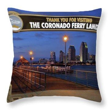 The Coronado Ferry Landing Throw Pillow