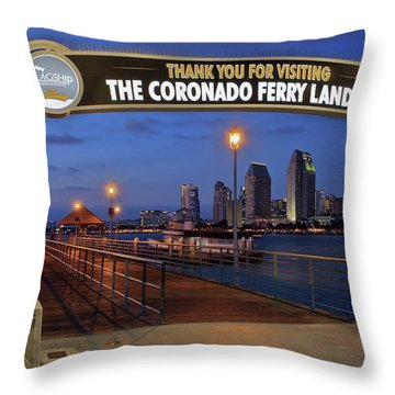 The Coronado Ferry Landing Throw Pillow