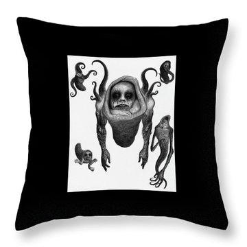 The Corrupted Demon Profile - Artwork Throw Pillow