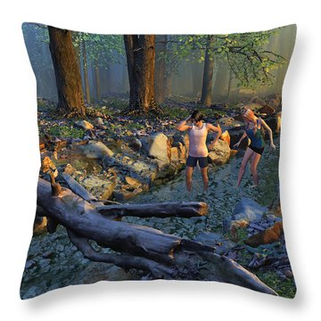 The Crawfish Games Throw Pillow