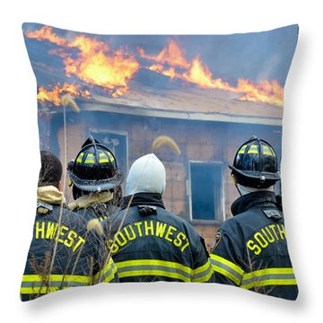 Throw Pillow featuring the photograph The Crew by Carl Young