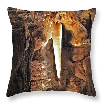 The Crystal King Throw Pillow
