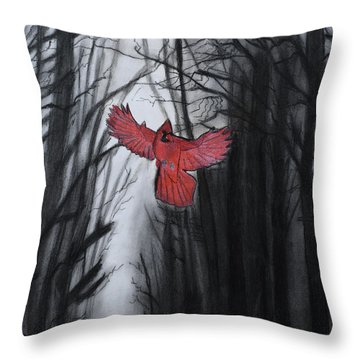 The Dark Forest Throw Pillow