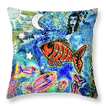 The Day The Stars Fell Into The Ocean Throw Pillow