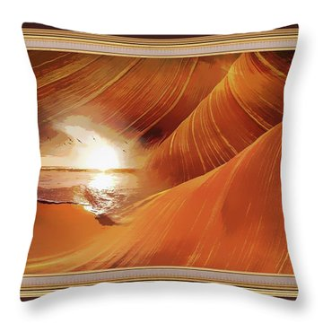 The Desert And The Tide Fantasy Throw Pillow