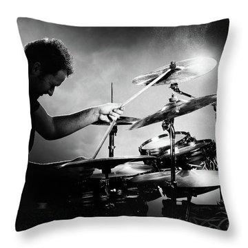 Drums Throw Pillows