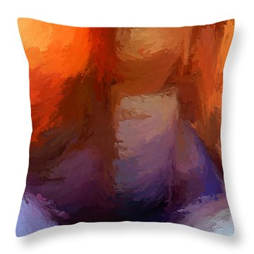 The Edge Of Darkness Throw Pillow