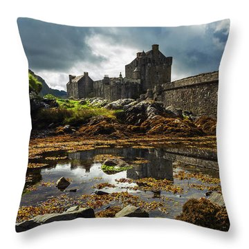 The Eilean Donan Castle Throw Pillow