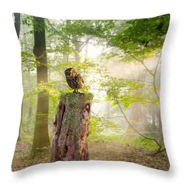 The Enchanted Forrest Throw Pillow