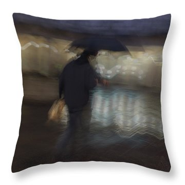Throw Pillow featuring the photograph The End Of A Long Day by Alex Lapidus