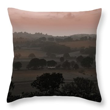The English Landscape Throw Pillow