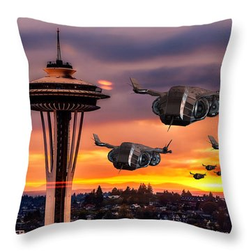 The Evening Commute Throw Pillow