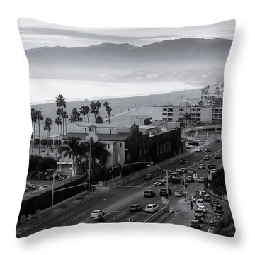 The Evening Drive Home Throw Pillow