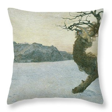 The Evil Mothers, 1894 Throw Pillow