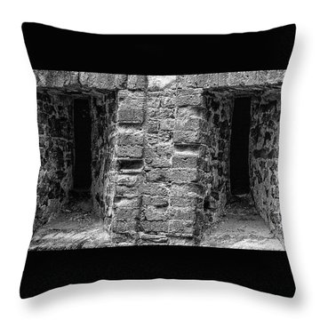 The Eyes Of War Throw Pillow
