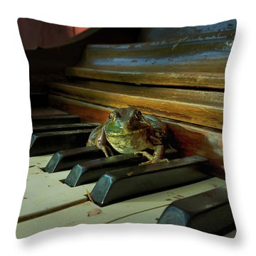 The F Key Throw Pillow