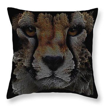The Face Of A Cheetah Throw Pillow