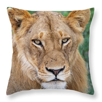 The Face Of Experience Throw Pillow
