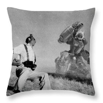 The Falling Soldier One Throw Pillow