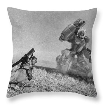 The Falling Soldier Two Throw Pillow