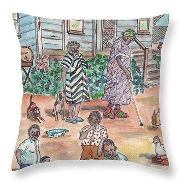 The Family On Magnolia Road Throw Pillow