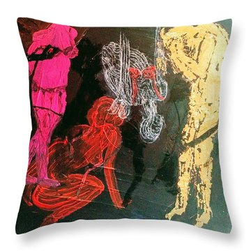 The Fates Are Emerging Throw Pillow