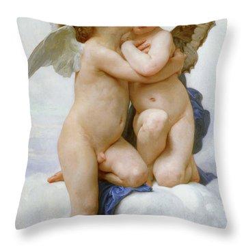 The First Kiss, 1890 Throw Pillow