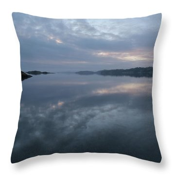 The Fog Lightens Throw Pillow