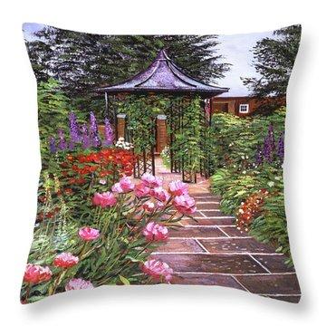 The Garden Arbor Throw Pillow