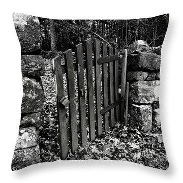 The Garden Entrance Throw Pillow