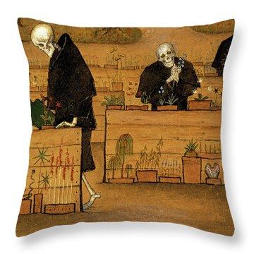 The Garden Of Death, 1896 Throw Pillow