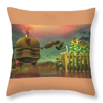 The Gardener Throw Pillow