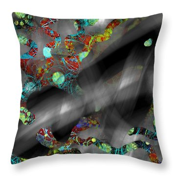 The Ghost Hides Imprint Of The Spirit Throw Pillow