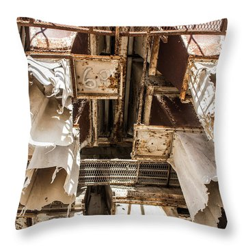 The Ghost Of Factories Past Throw Pillow