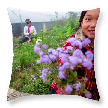 The Gift - Sapa, Vietnam Throw Pillow