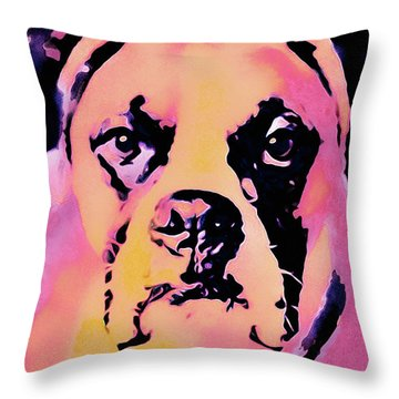 Throw Pillow featuring the mixed media The Good Girl by Susan Maxwell Schmidt