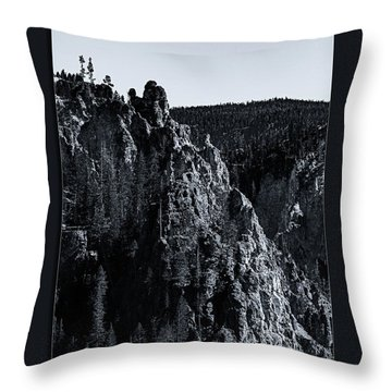 Throw Pillow featuring the photograph The Grand Canyon Of The Yellowstone by Pete Federico