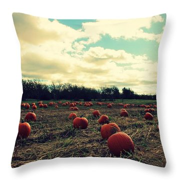 Throw Pillow featuring the photograph The Great Pumpkin by Candice Trimble