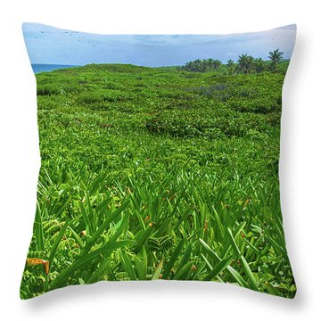 The Green Island Throw Pillow