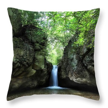The Grotto At The Blue Hole Throw Pillow
