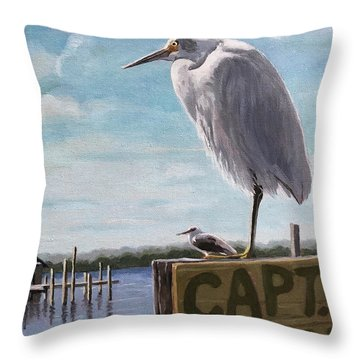 The Guardians - Florida Oil Painting Throw Pillow