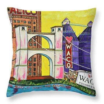 The Heart Of Waco Throw Pillow