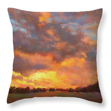 The Heavens Declare His Glory Throw Pillow