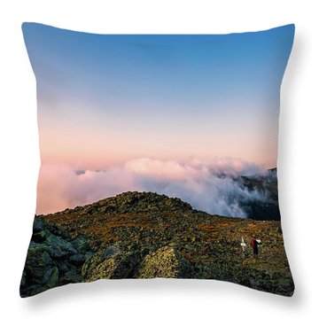 The Hiker - Mt Jefferson, Nh Throw Pillow