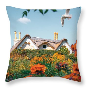 The Hobbit House Throw Pillow